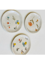 Alice Cheng Studio Small Porcelain Floral Plates