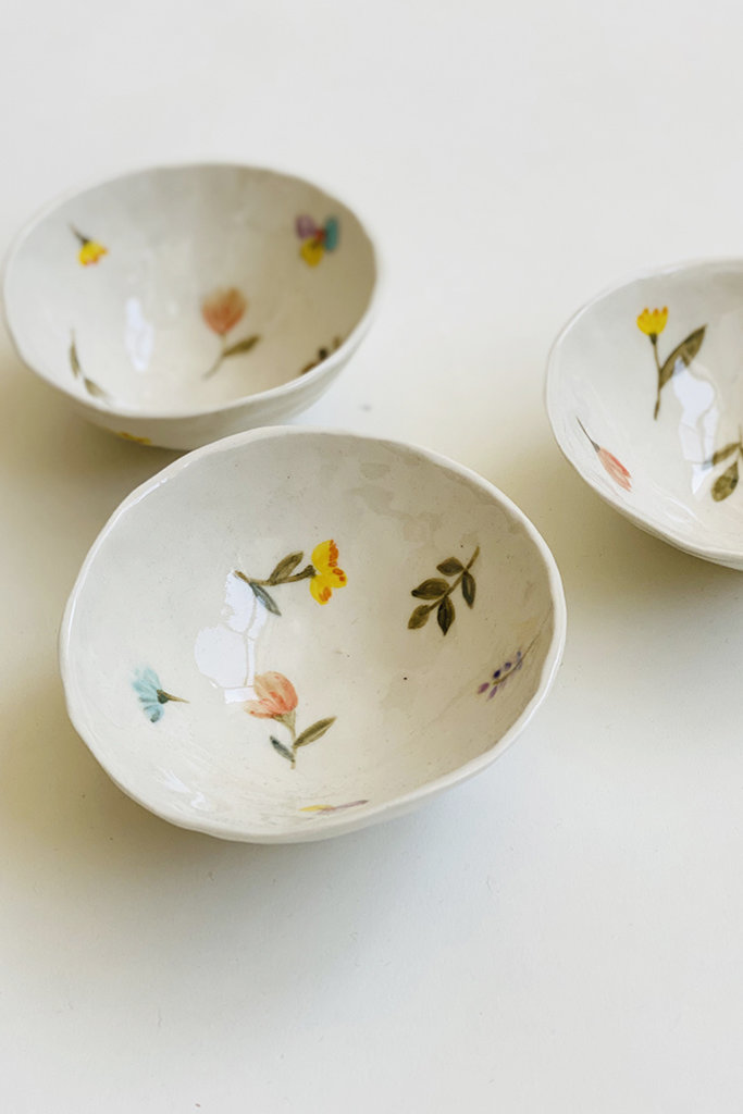 Alice Cheng Studio Small Porcelain Garden Dishes