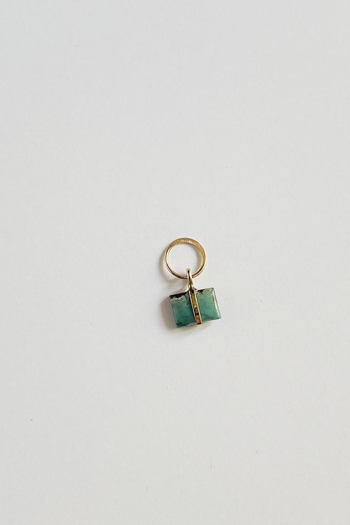 Melissa Joy Manning Melissa Joy Manning Turquoise Charm 14KT Gold