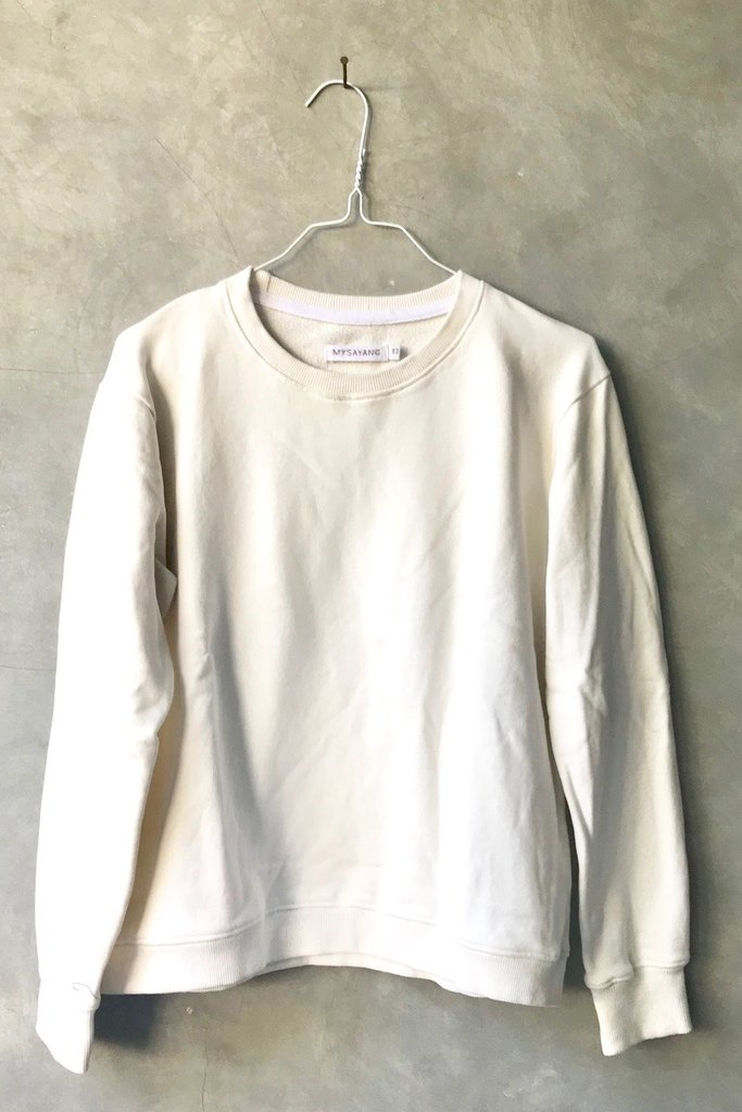 Mysayang Mysayang Madu Sweatshirt in Ivory Cotton