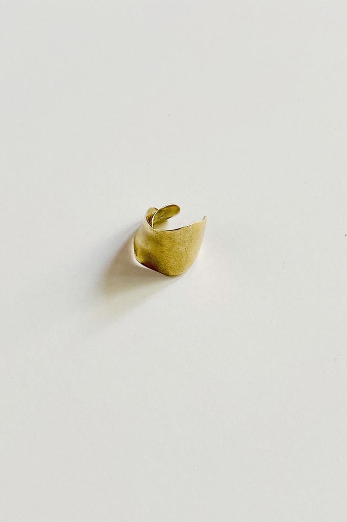 864 Cuff Earring Brass