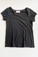 Harlin Violet Recycled V-Neck in Black