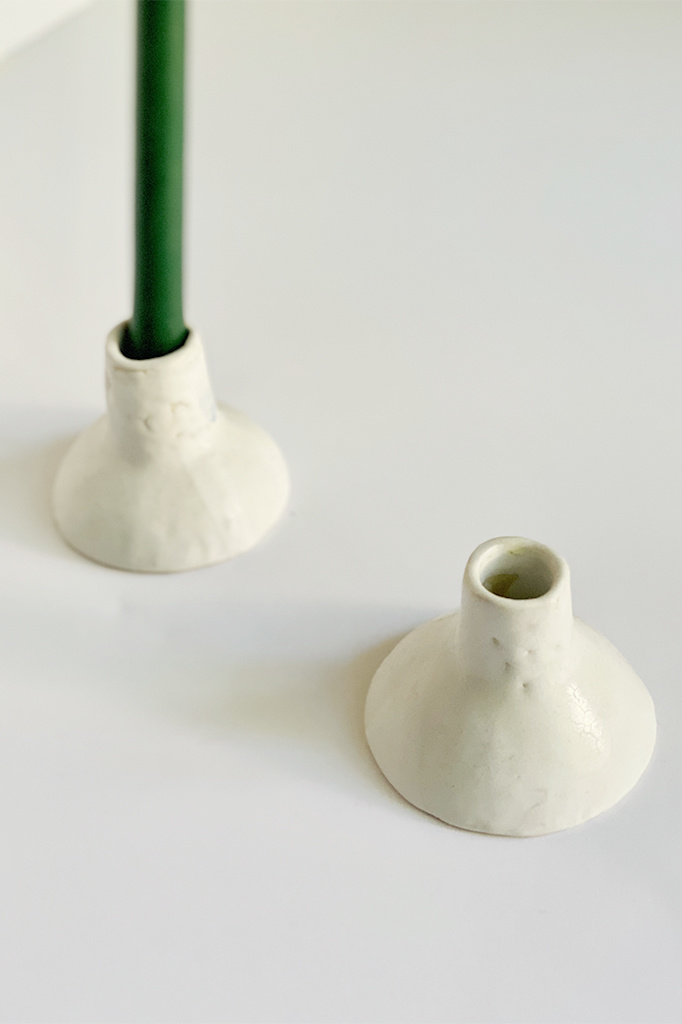 Alice Cheng Studio Candle Holders - Pair