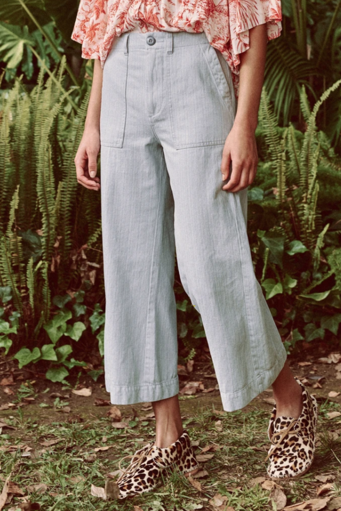 The Great The Great General High Waisted Pant in Sky Blue - Size 28