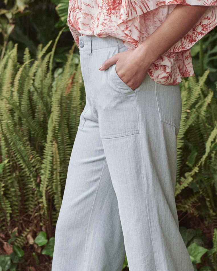 The Great The Great General High Waisted Pant in Sky Blue