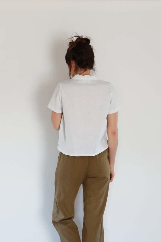 Me & Arrow Me & Arrow Button Down Shirt in White