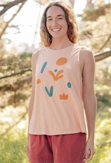 Napes Tank with Graphic Print in Blush Pink