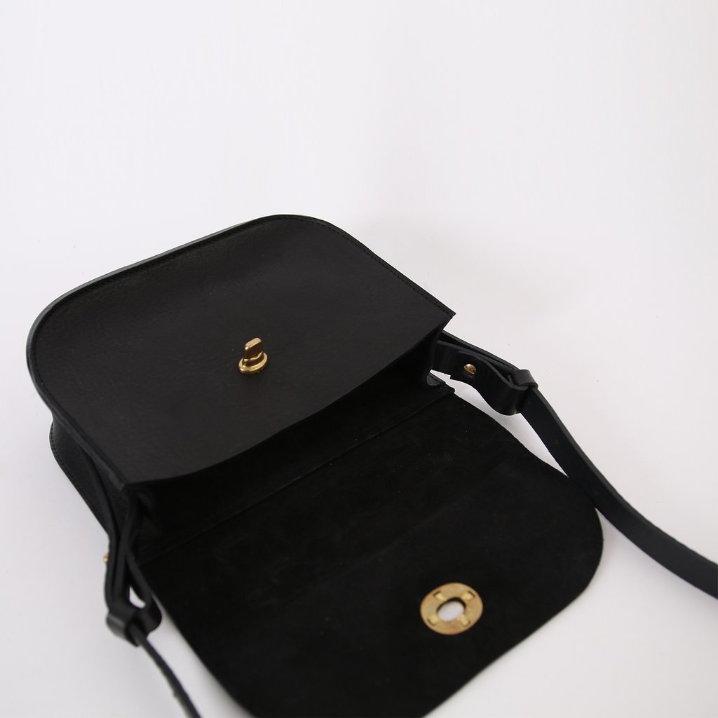 Kate Sheridan Black Lock Shoulder Bag