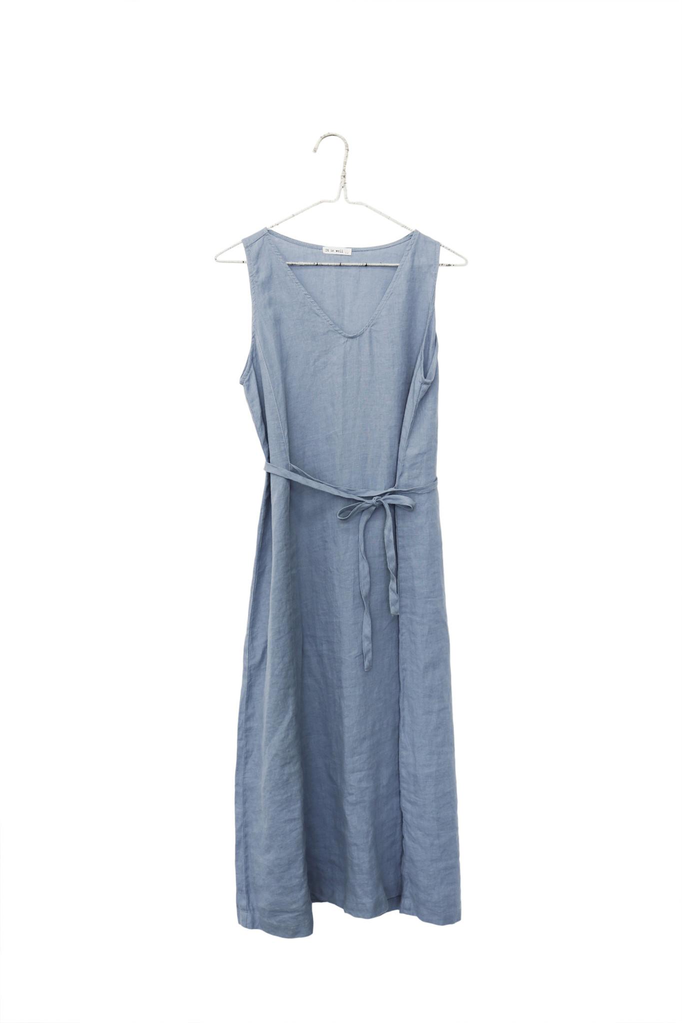 It Is Well L.A. It Is Well L.A. Tie Dress in Blue