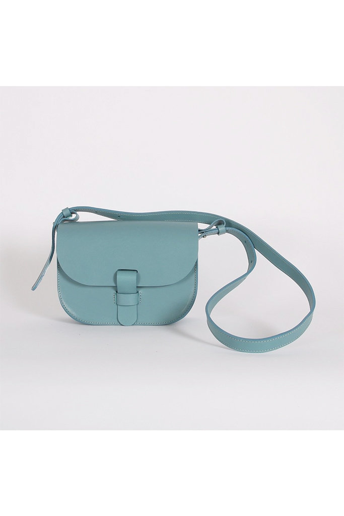 Kate Sheridan Ltd Kate Sheridan Celeste Loop Leather Shoulder Bag in Sky Blue