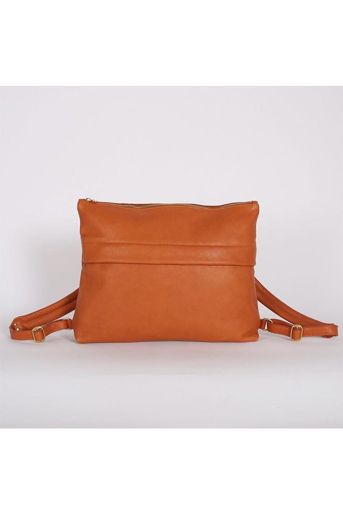 Kate Sheridan Cognac Softie Leather Rucksack