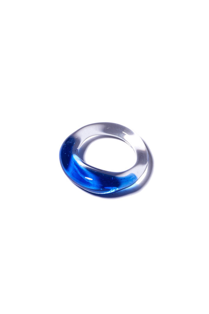 Jane D'Arensbourg Glass Marble Band with Cobalt