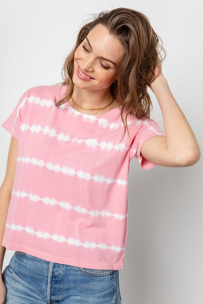 Rails Rails Roman Tee in Pink and White Tie Dye M