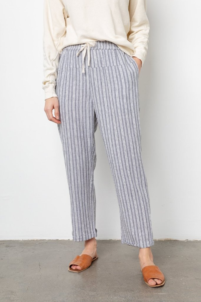 Rails Rails Linden Drawstring Pants in Striped Linen Blend