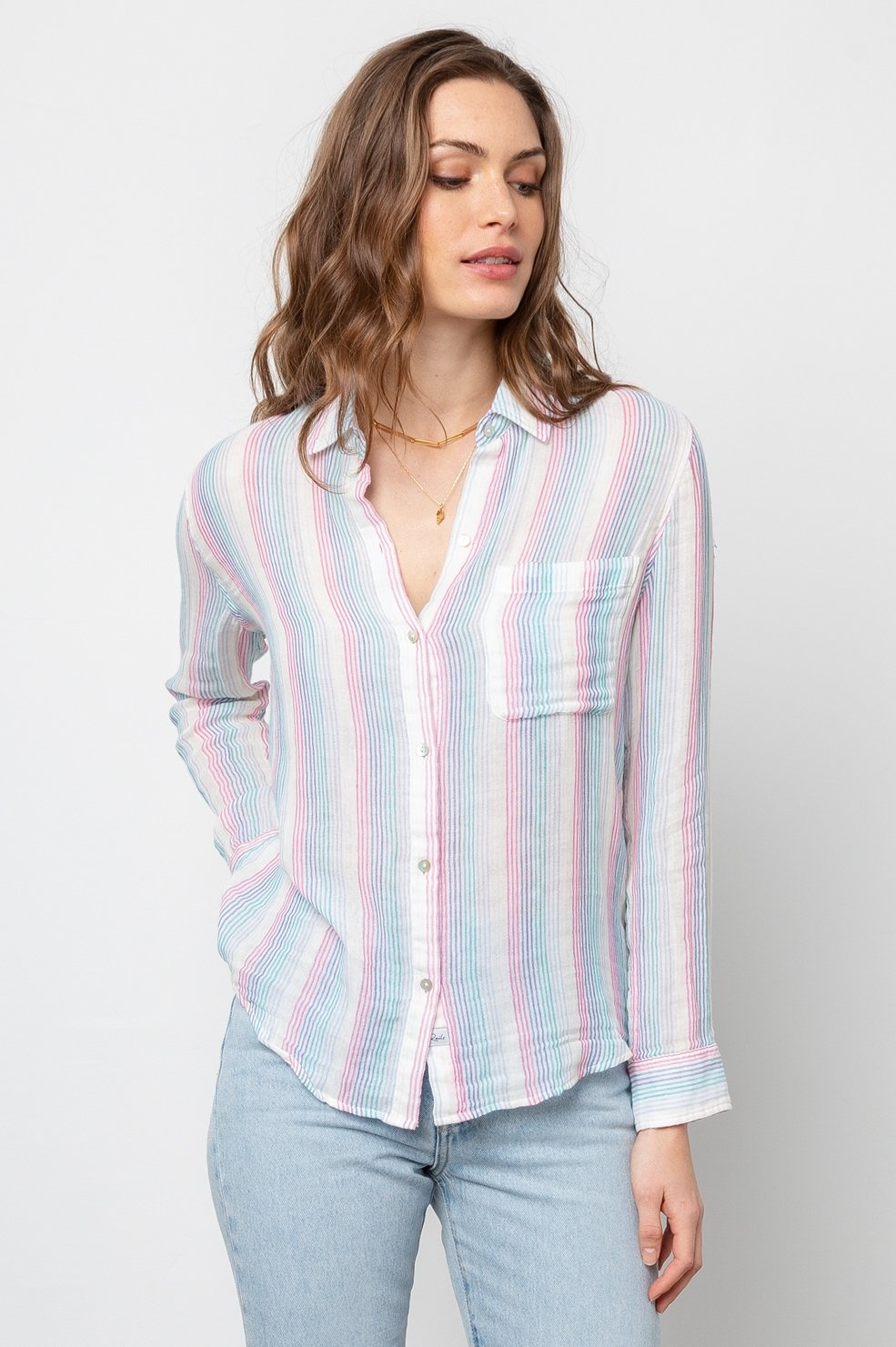 Rails Ellis Striped Button Down Shirt