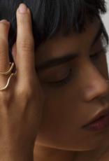Annika Inez Wavy Dipped Ring Gold Fill