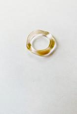 Glass Thin Organic Band Clear size 7