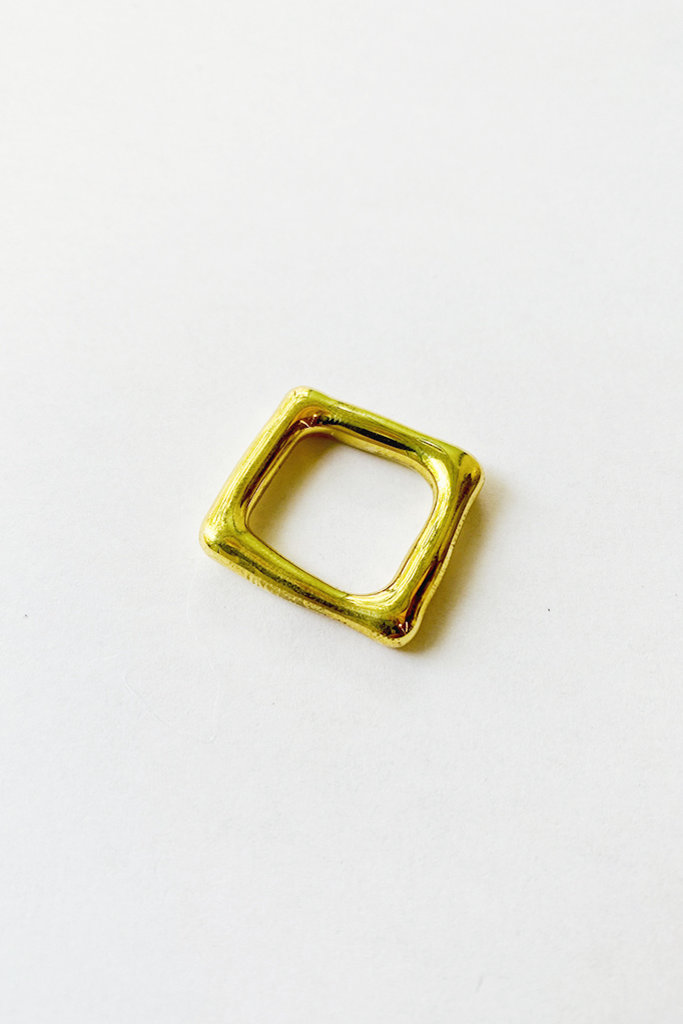 Jane D'Arensbourg Jane D'Arensbourg Metal Org Square Ring in Brass