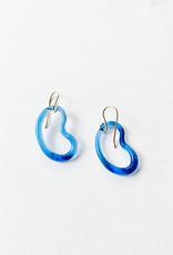 Jane D'Arensbourg Glass Bean Earrings in Light Cobalt