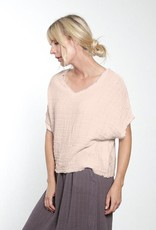 It Is Well L.A. Raw Edge Reversible Gauze Top