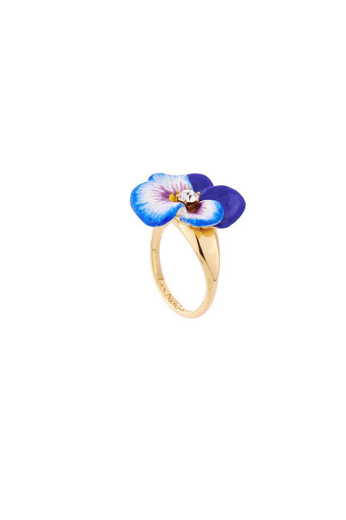 Les Nereides Les Nereides Blue Pansy Ring Small GF