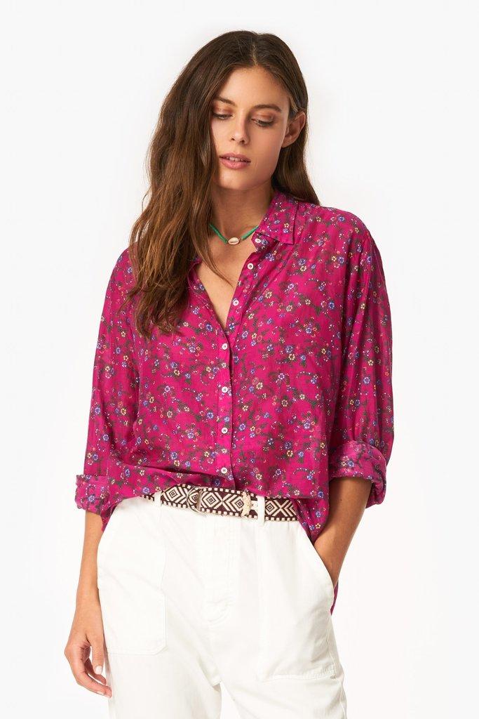 Xirena Xirena Cotton Silk Floral Beau Shirt