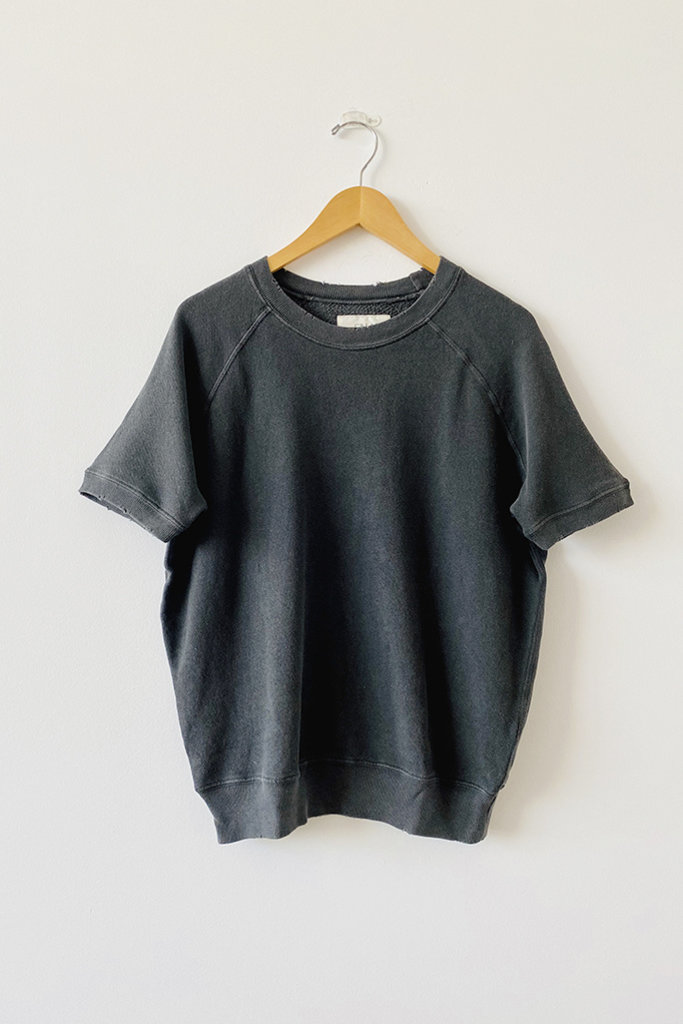 The Great Sweatshirt in Washed Black - Size 1