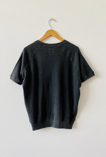 The Great Short Sleeve Sweatshirt in Washed Black