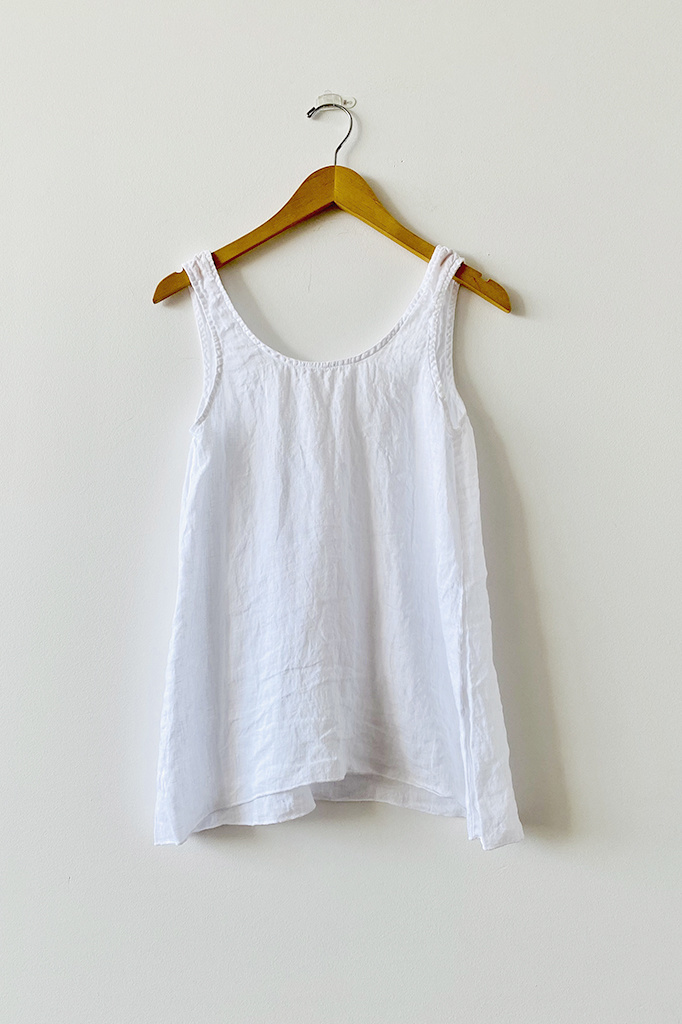 CP Shades Sia White Linen Tank Top