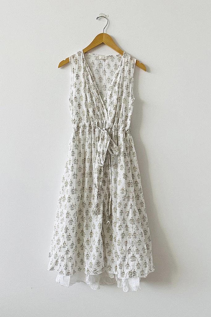 CP Shades CP Shades Julia Tie Waist Cotton Dress- M