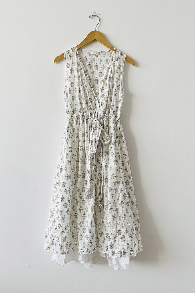 CP Shades Julia Tie Waist Cotton Dress- M