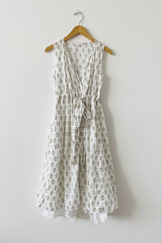 CP Shades Julia Tie Waist Cotton Dress