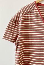 Diega Diega 5806 Trusto Striped V Neck Tee