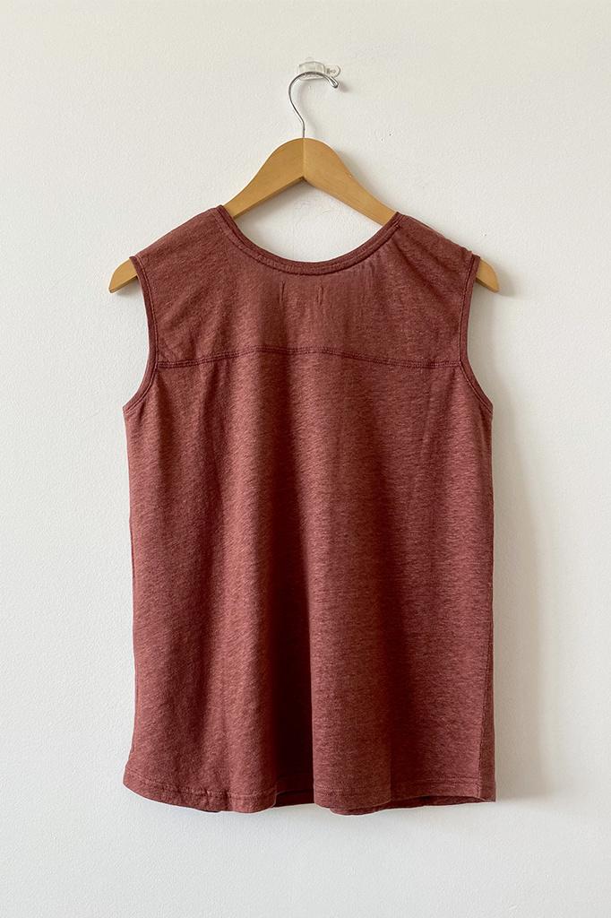 Diega Diega 5788 Toro Knitted Linen Tank Top