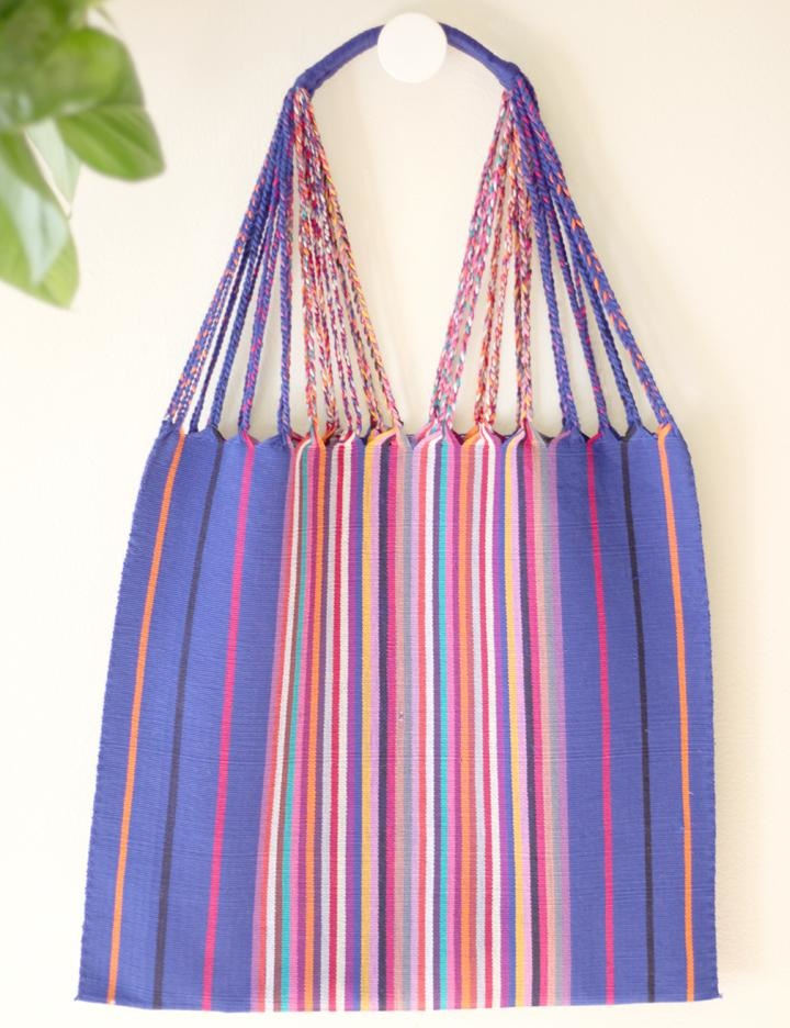 Luz Collection Luz Collection Woven Cotton Striped Tote - Multiple Colors
