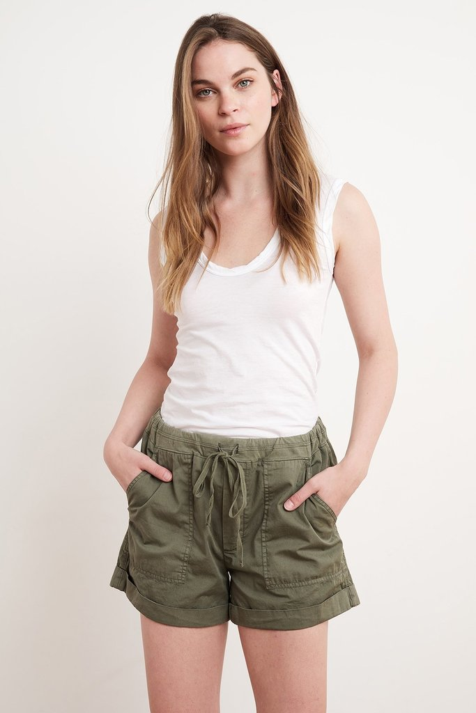 Velvet Velvet Tenley Cotton Drawstring Shorts