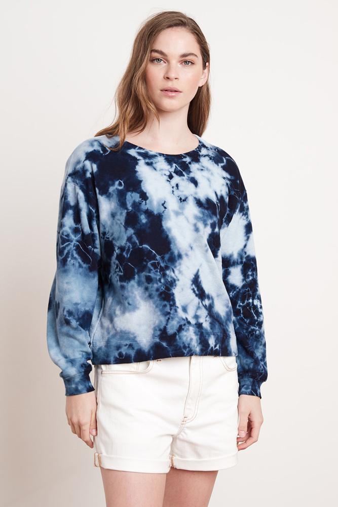 Velvet Velvet Adelpha Blue Tie Dye Sweatshirt