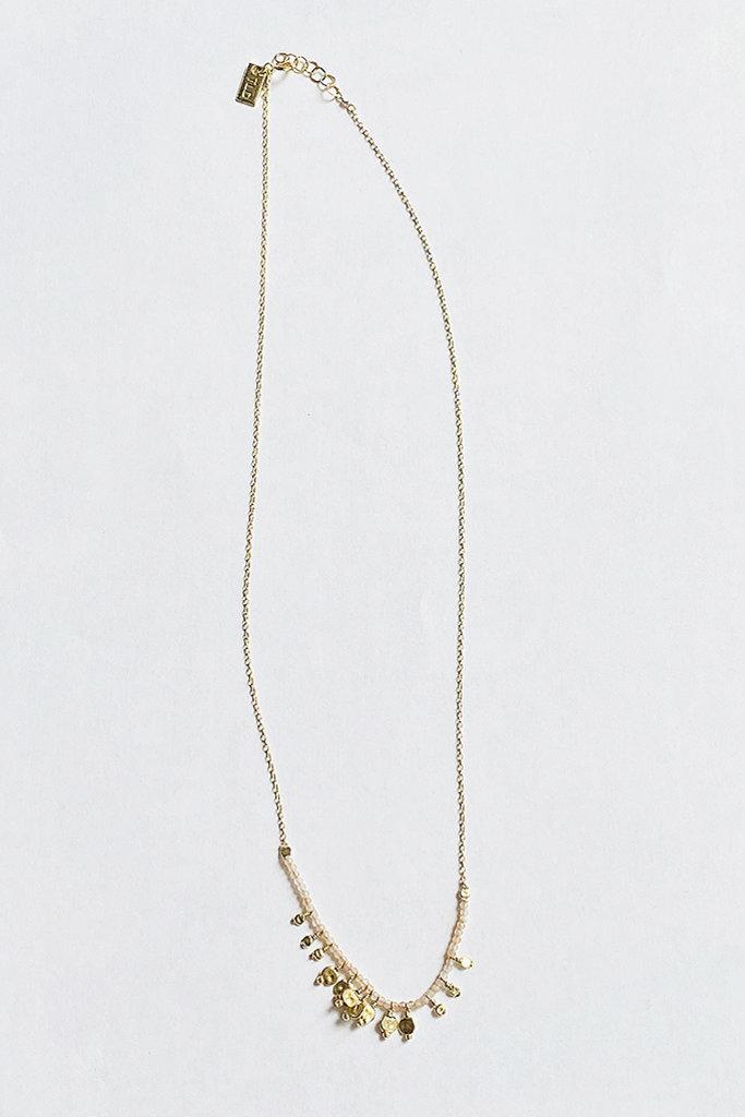 Iwona Ludyga ILD Beaded Pink Opal Serpent Necklace