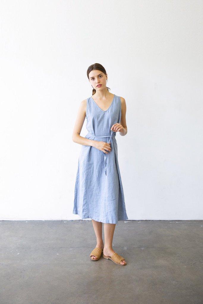 It Is Well L.A. Tie Dress in Blue - Size M