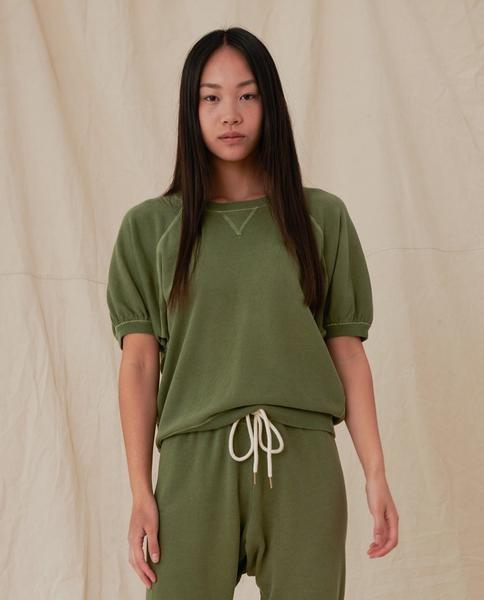 The Great Short Sleeve Puff Sweatshirt- Size 2