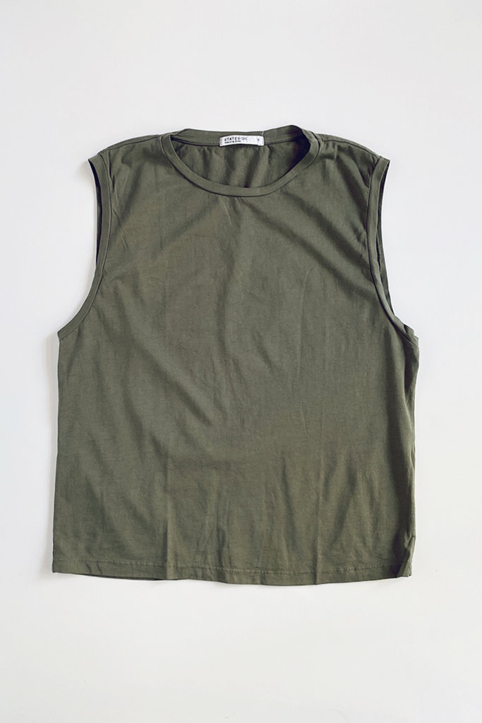Stateside Cotton Muscle Tank - Size M