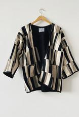 Tonle Tonle Kita Black and Grey Patchwork Jacket