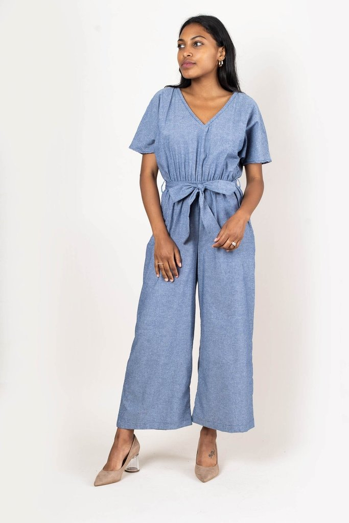 Tonle Tonle Rachana Blue Chambray Jumpsuit - S