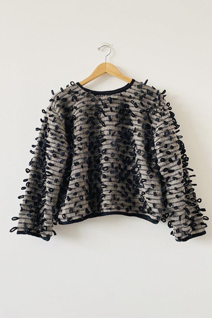 Tonle Tonle Srey Handwoven Bobble Sweatshirt - Size L/XL
