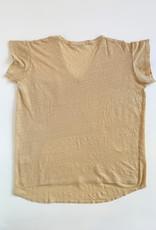 Starkx V Neck Linen Pocket Tee - Size XS