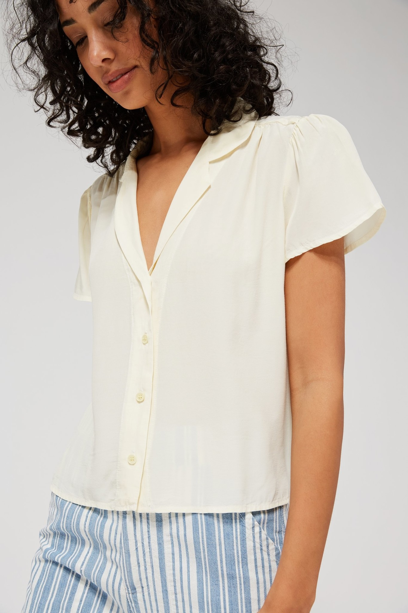 lacausa Lacausa Margot Silky Blouse