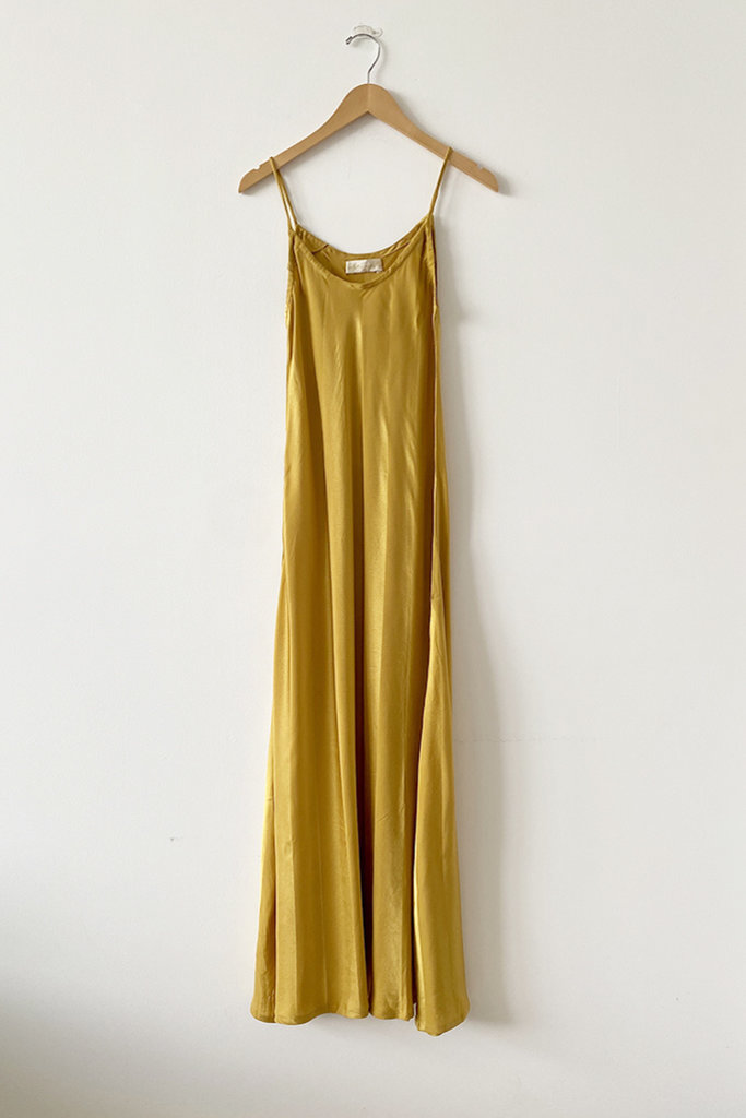 Natalie Martin Natalie Martin Heather Tumeric Silk Maxi Dress