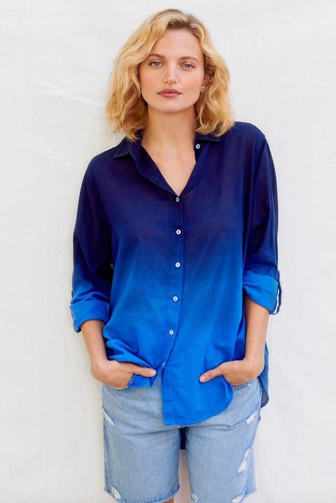 Sundry Dip Dye Oversized Shirt XS