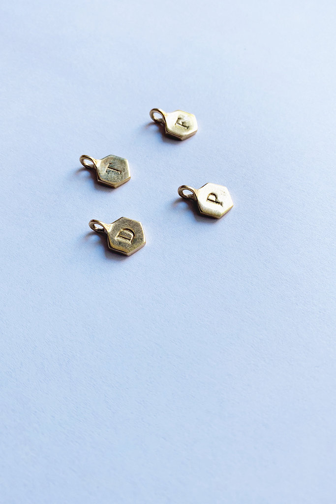 odette Brass Alphabet Charms