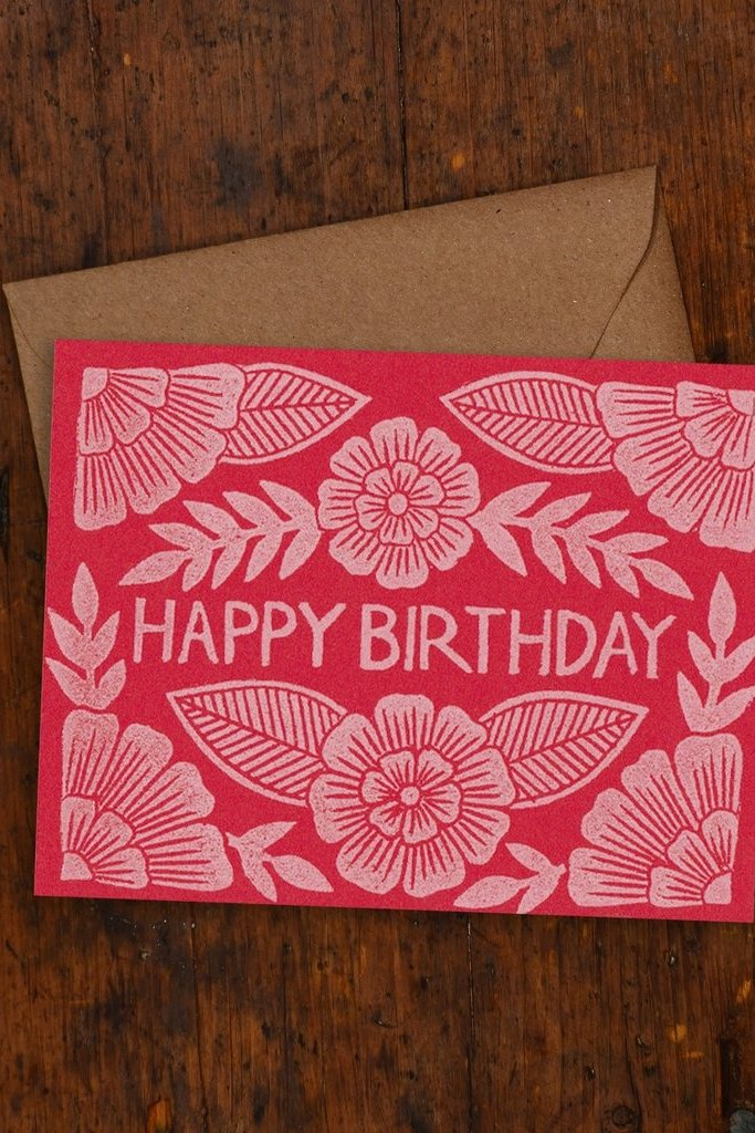 Katharine Watson Happy Birthday Block Print Cards